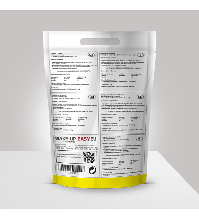 2Kg L-Taurine Powder with measuring spoon included