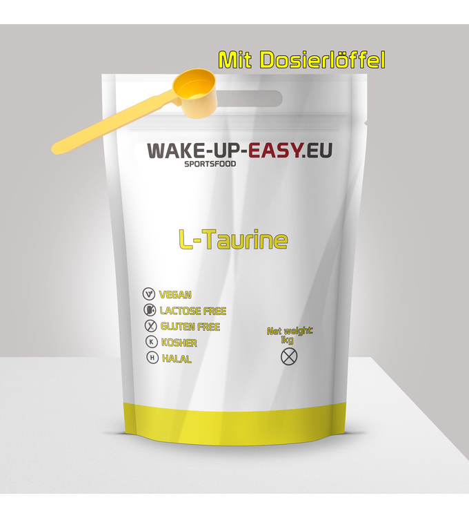 1Kg L-Taurine Powder with measuring spoon included from wake-up-easy