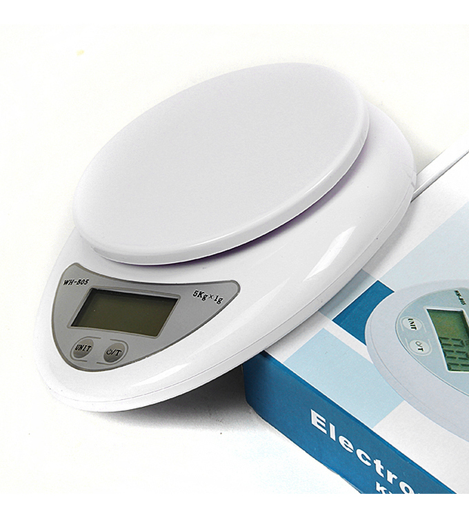 Kitchen electronic scale 1g - 5Kg ´White Digital Scale`